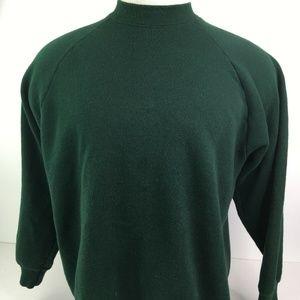 VTG 90s Fruit of the Loom Solid Green Sweatshirt